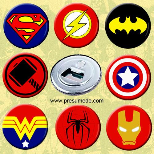 Abridores con imán superhéroes
