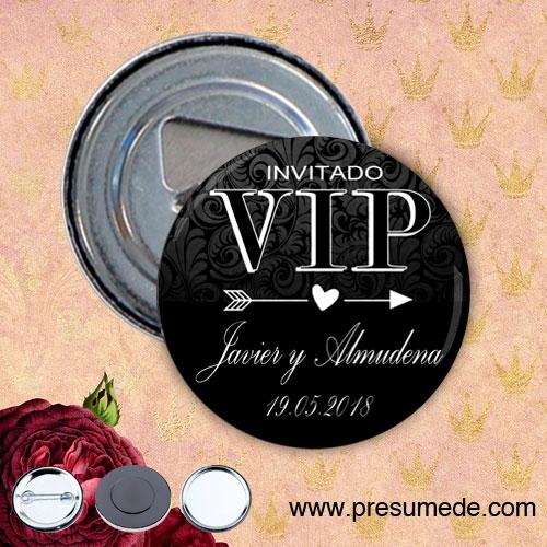 Abridores con imán para boda invitado vip