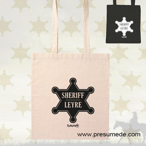 Bolsa de algodón Sheriff personalizada