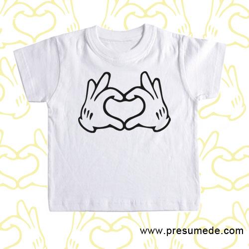 Camiseta corazón Disney para niños