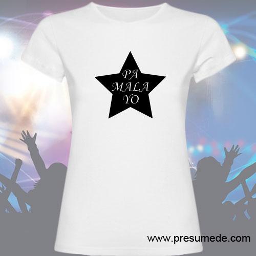 Camiseta estrella pa mala yo blanca