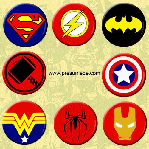 chapas fiesta superheroes
