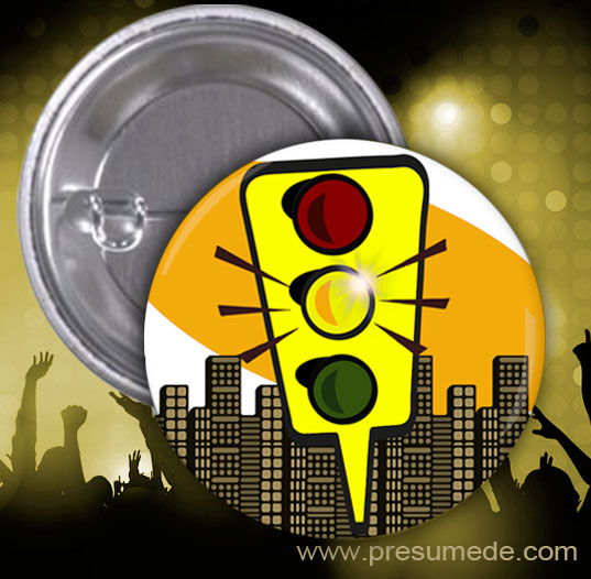 Chapas para fiesta semáforo: amarillo