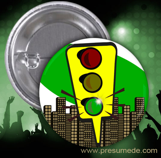 Chapas para fiesta semáforo: verde