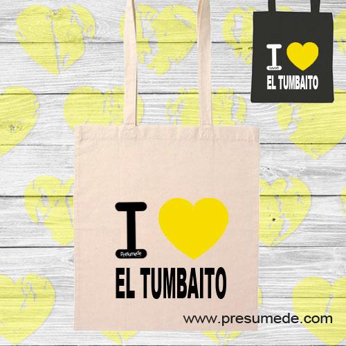 Bolsa de algodón I Love El Tumbaito