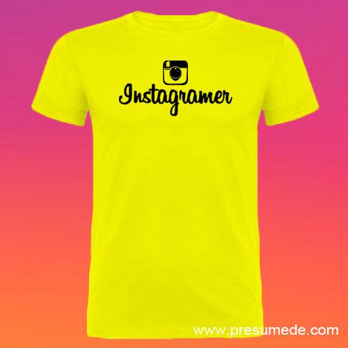 Camiseta Instagramer hombre color amarillo