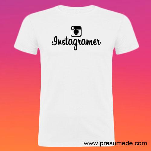 Camiseta Instagramer hombre color blanco