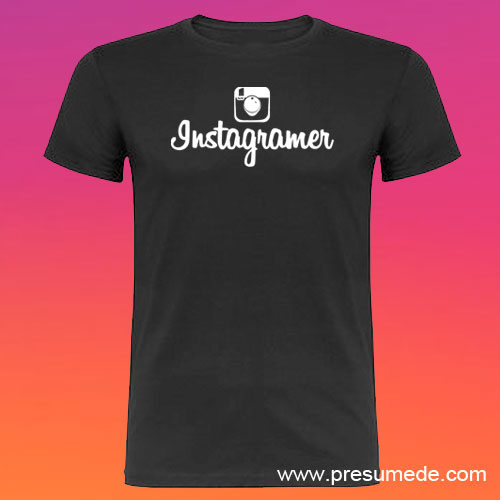 Camiseta Instagramer hombre color negro