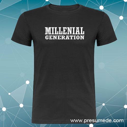 Camiseta millenial generation