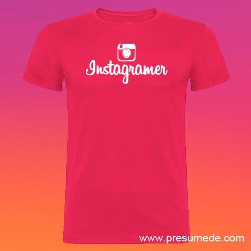 Camiseta Instagramer hombre color rosetón