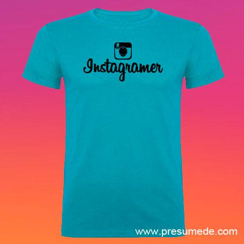 Camiseta Instagramer hombre color turquesa
