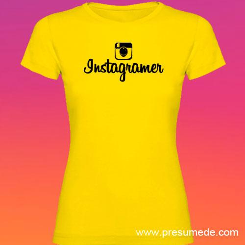 Camiseta Instagramer mujer color amarillo