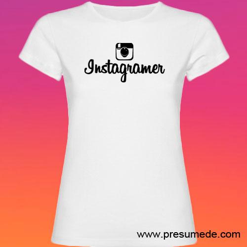 Camiseta Instagramer mujer color blanco