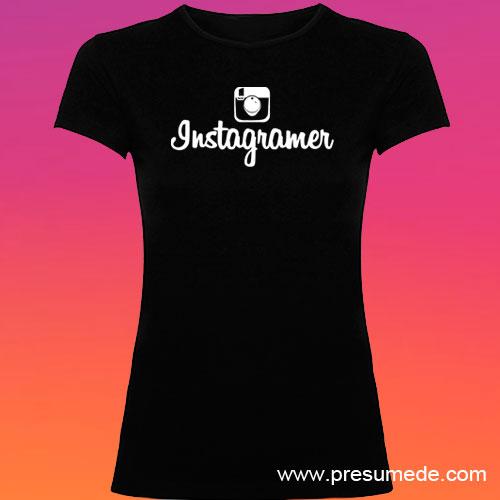 Camiseta Instagramer mujer color negro