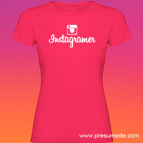 Camiseta Instagramer mujer color rosetón