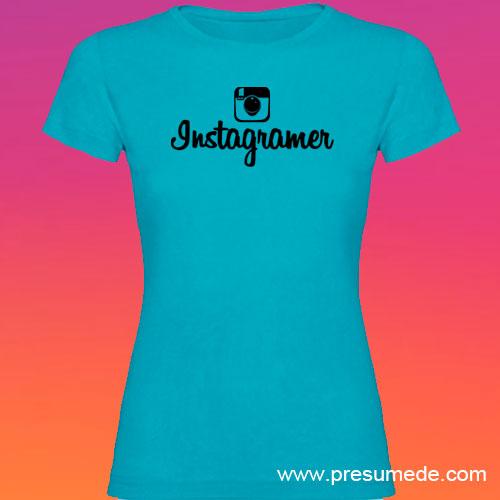 Camiseta Instagramer mujer color turquesa