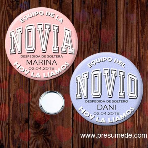 Espejo despedida soltero EQUIPO DEL NOVIO/NOVIA