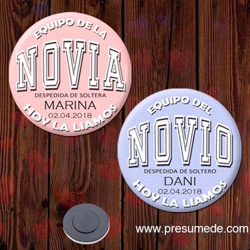 Imán despedida soltero EQUIPO DEL NOVIO/NOVIA