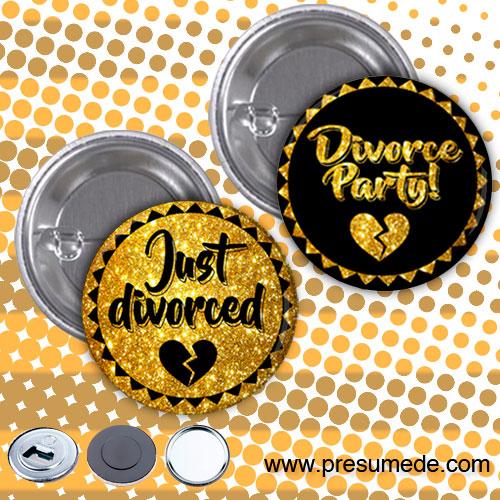 Chapas para fiesta de divorcio just divorced
