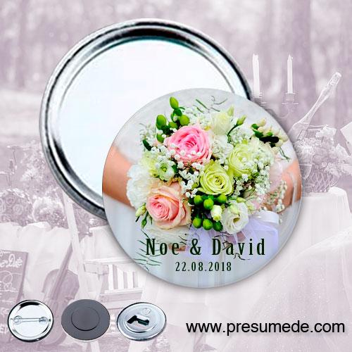 Espejos para boda ramo de la novia