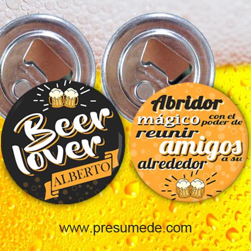 Abridores con imán beer lover