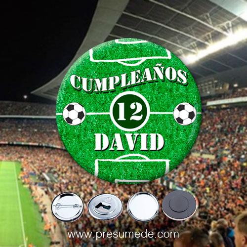 Chapas para cumpleaños fútbol