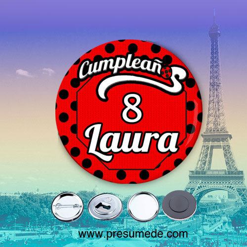 Chapas para cumpleaños Ladybug