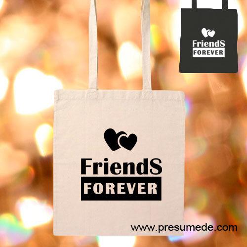 Bolsa de algodón friends forever