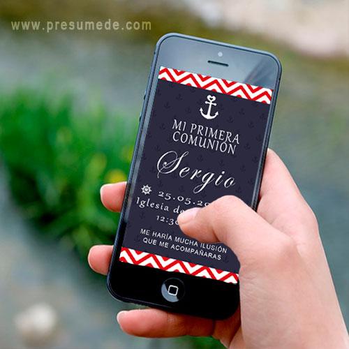 Invitación digital para comunión marinera