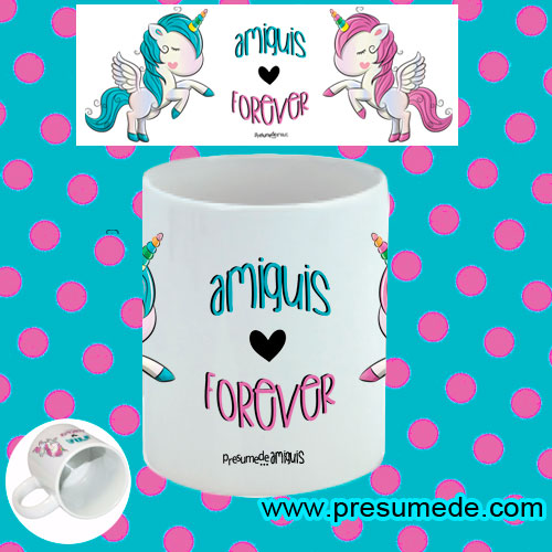 Taza amiguis forever