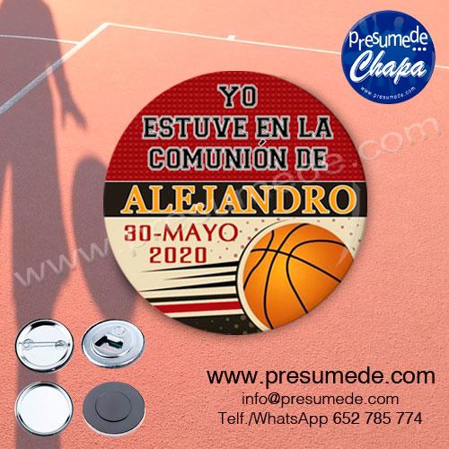 Chapas para comunión baloncesto