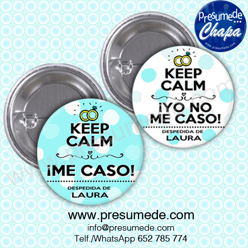 Chapas para despedida keep calm