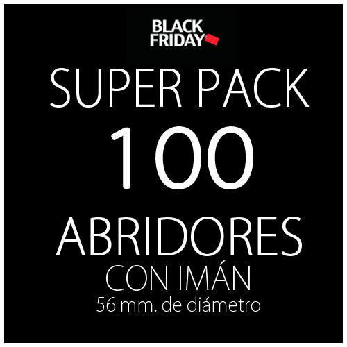 Pack black 100 abridores