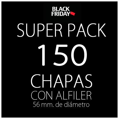 Pack black 150 chapas