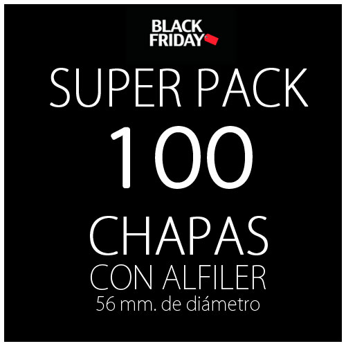 Pack black 100 chapas