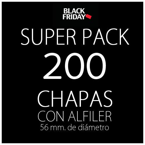 Pack black 200 chapas