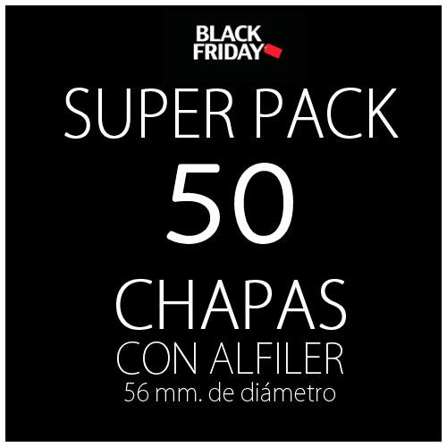 Pack black 50 chapas