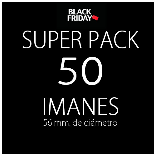 Pack black 50 imanes