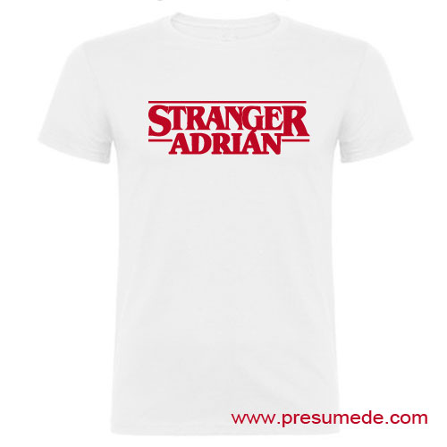camiseta stranger things color blanco chico