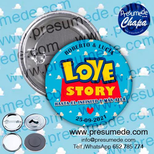 Chapas para boda love story