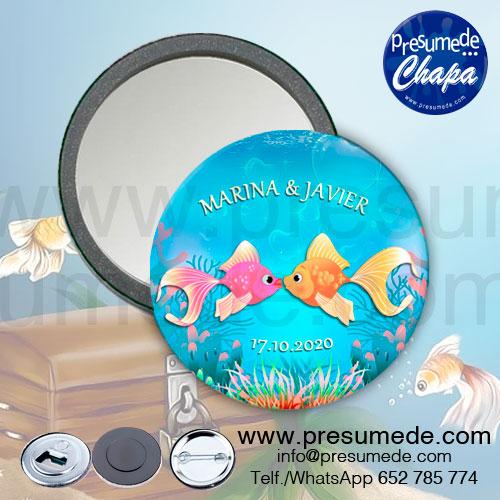 Espejos para boda fondo marino