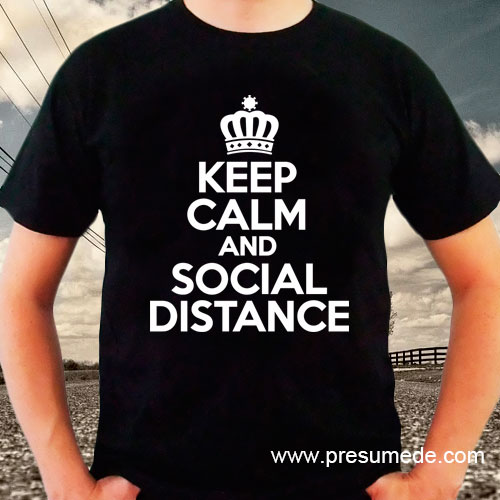 Camiseta keep calm social distance