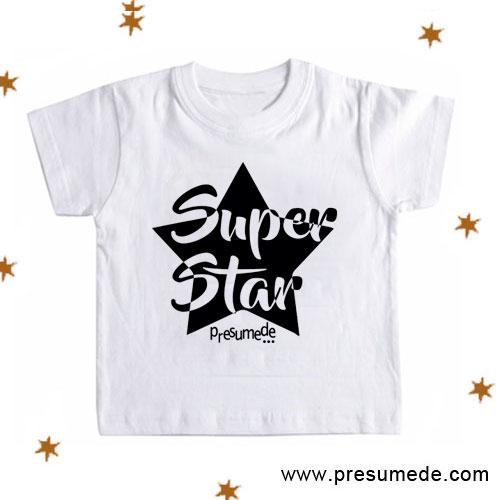 Camiseta SUPER STAR para niños
