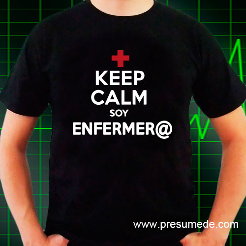 Camiseta keep calm soy enfermera