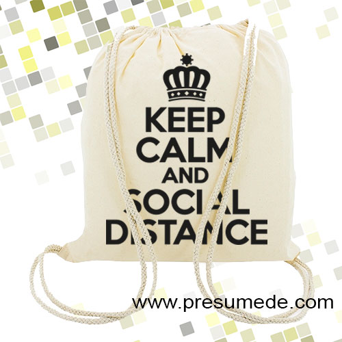 Mochila keep calm social distance