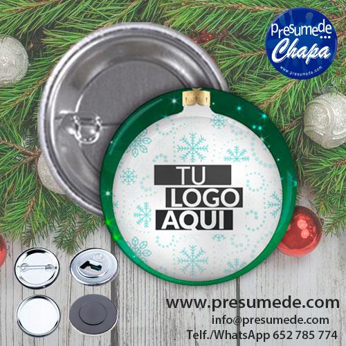 Chapas para navidad con logotipo