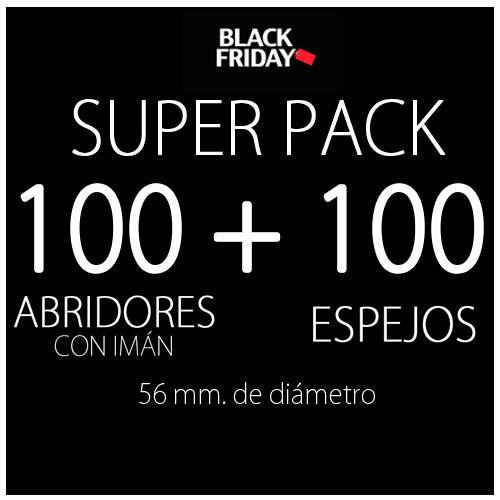 Pack black 100 abridores y 100 espejos