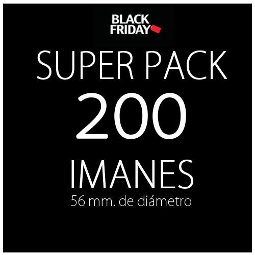 Pack black 200 imanes
