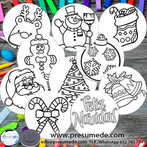 Pack 10 chapas para dibujar Navidad