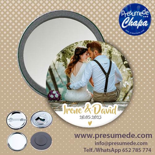 Espejos para boda con foto